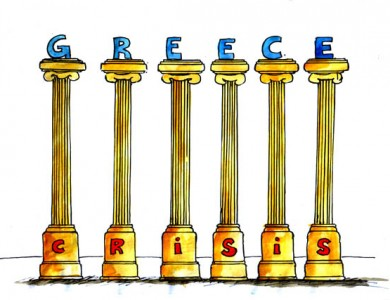Greece Financial Crisis Cartoon